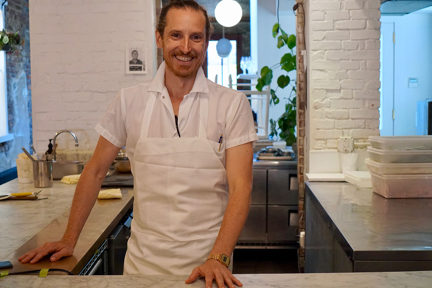 Gabe McMackin '94, chef and owner of The Finch in Brooklyn. THE FINCH