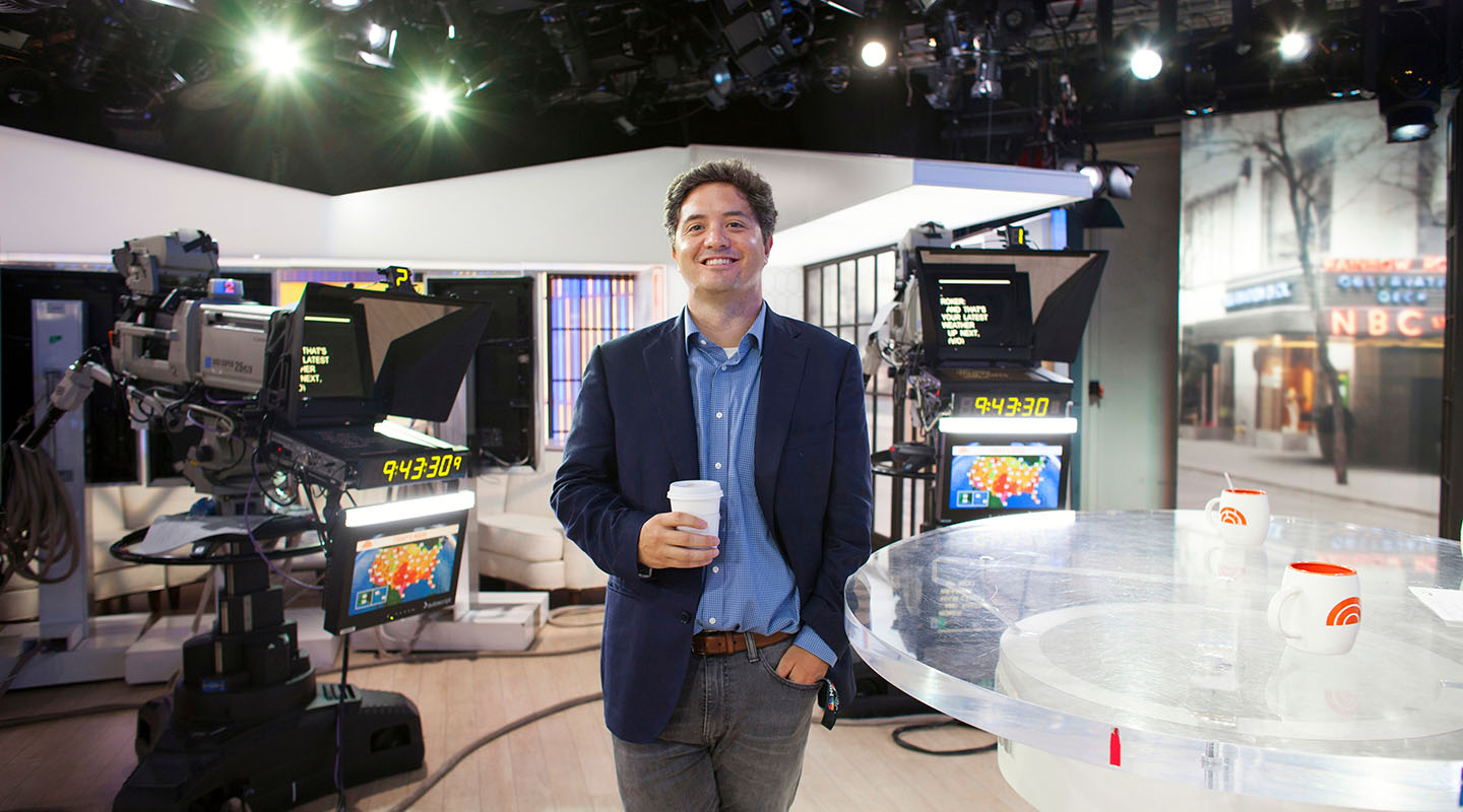 Osborn at home on the Today show set. ROBERT FALCETTI