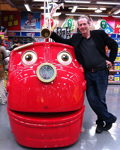 Charlie Albert '69 in Hong Kong when his company worked on a Chuggington® interactive product line in 12 languages for the Japanese company Tomy.