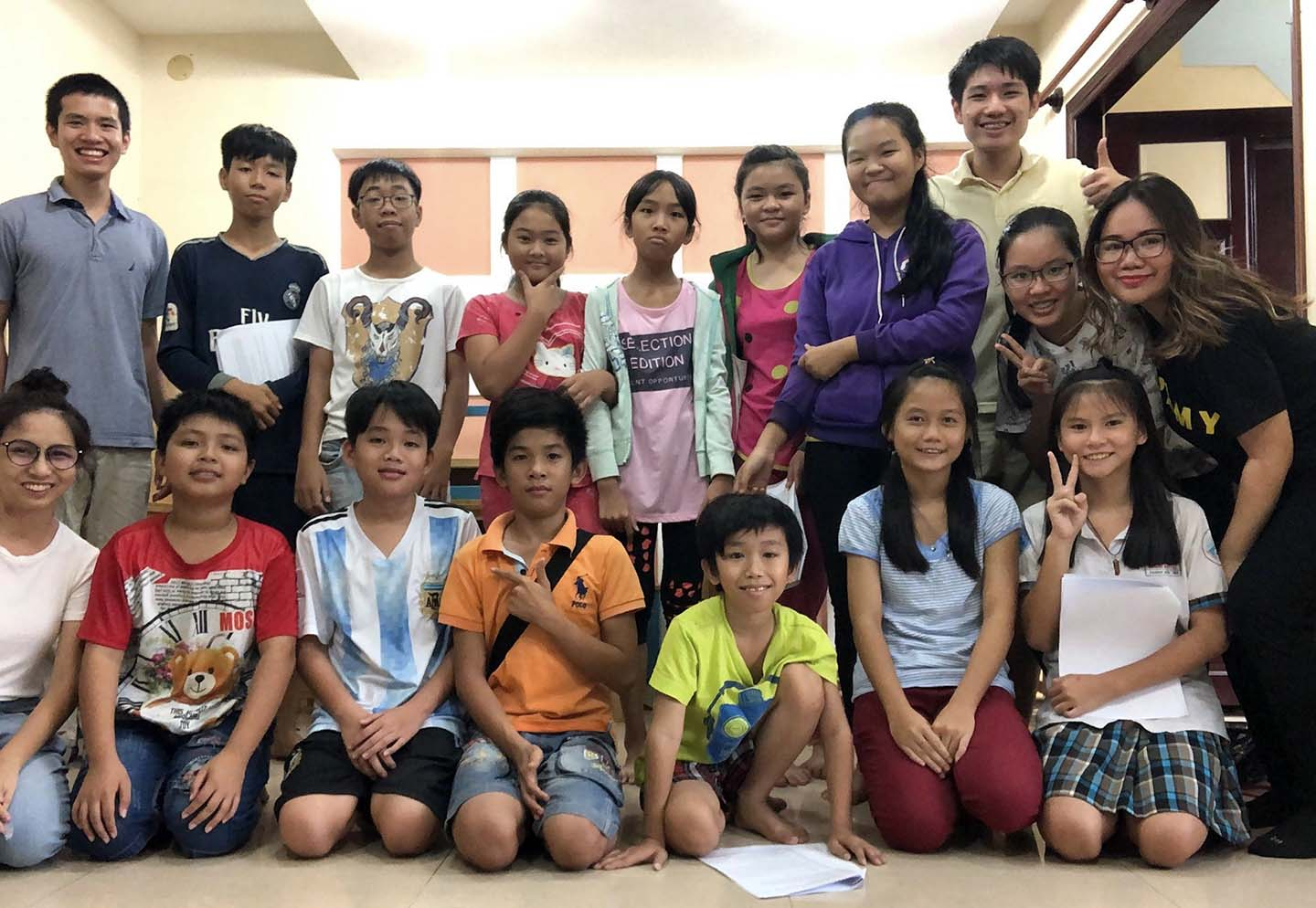 Ben, back row on left, with the Ba Muoi team