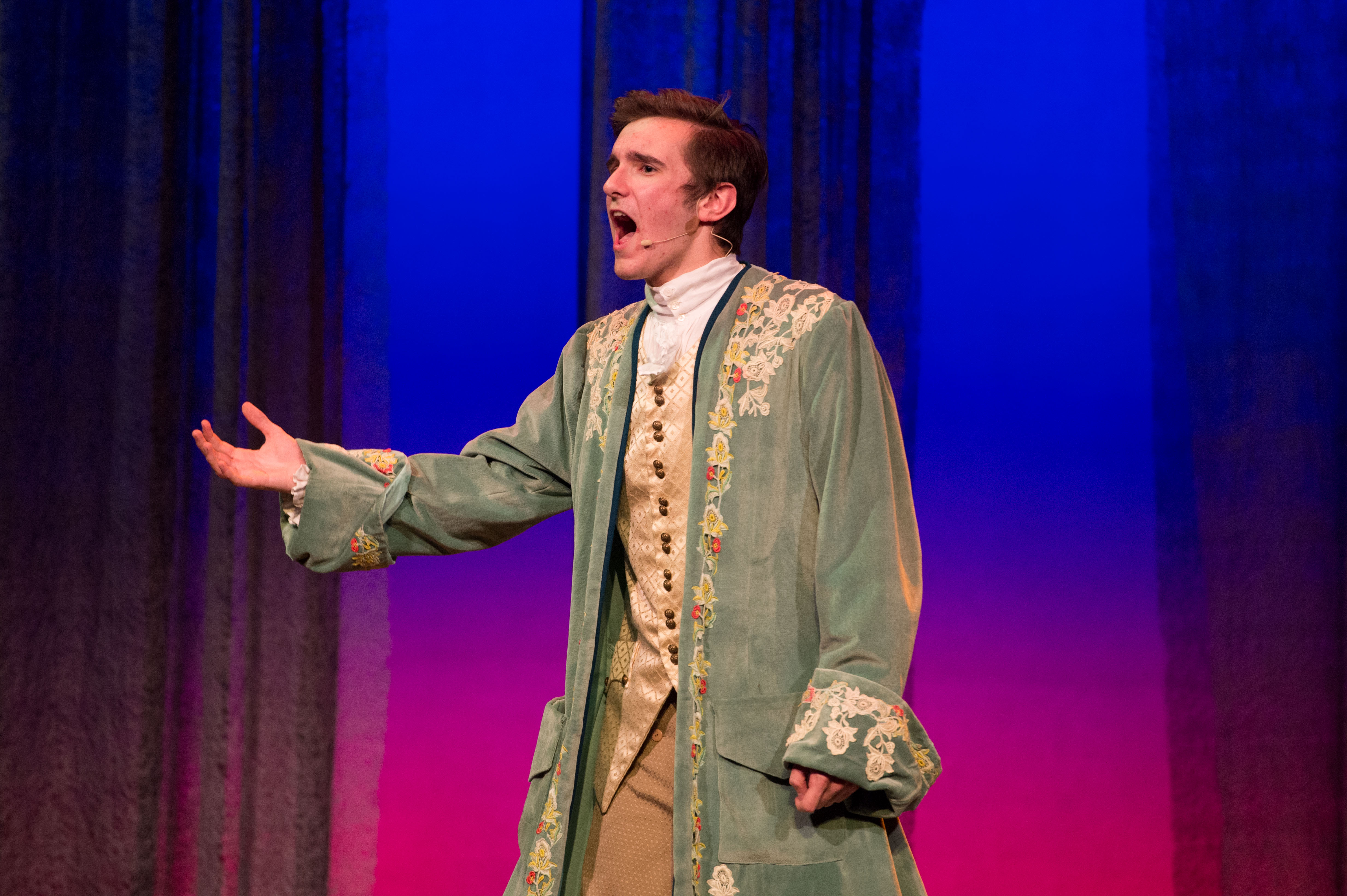 "Nicholas singing as a prince in ""Into the Woods"""