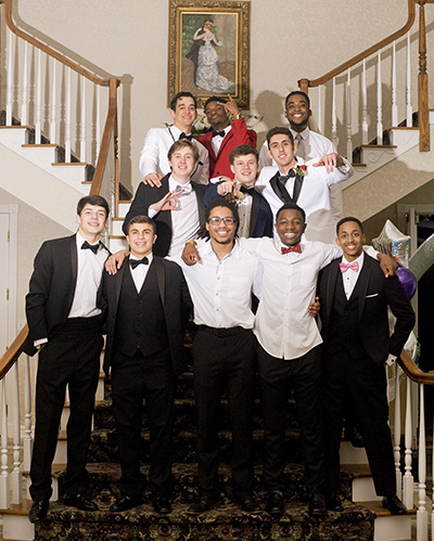 Male Taft students at Winter Formal