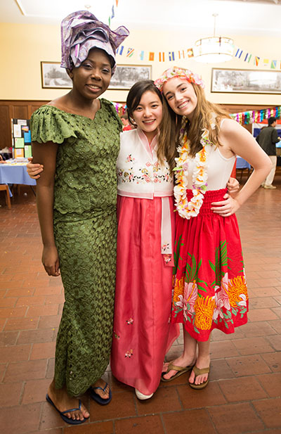 Female Taft students participating in WorldFest