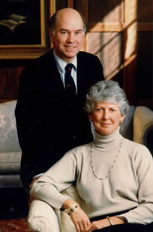 Headmaster Lance Odden and his wife Patsy