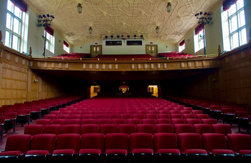 View of Bingham Auditorium from the stage