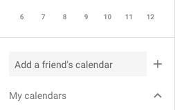 Google Calendar - Add a Calendar